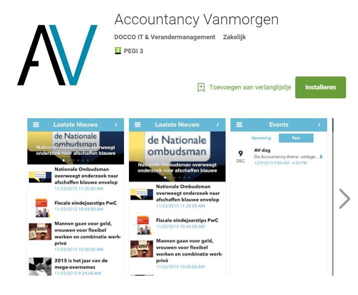 Accountancy Vanmorgen lanceert de AV-app